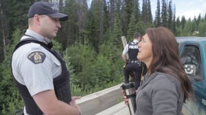 July 2015 police warning of intention to escort pipelines onto the territory