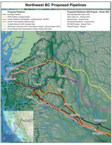 Map of proposed pipelines (from Common Sense Canadian)