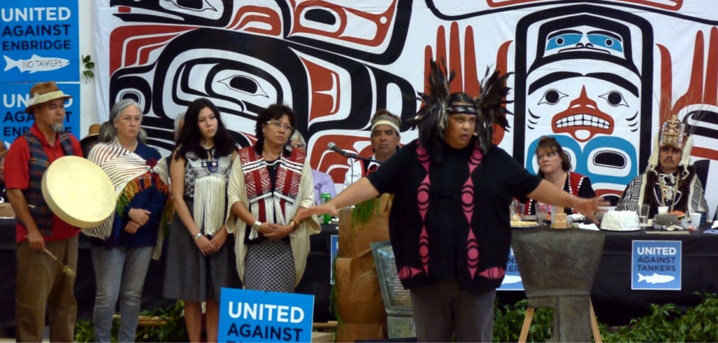 chief Reuben George from the Tsleil waututh First Nation speaking of common fights